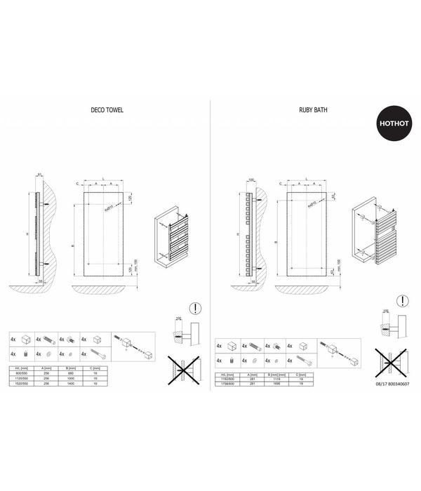 HOTHOT DECO TOWEL - Designer Heated Towel rail