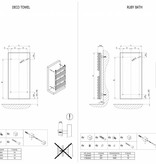 HOTHOT DECO TOWEL - Elektro Badheizkörper