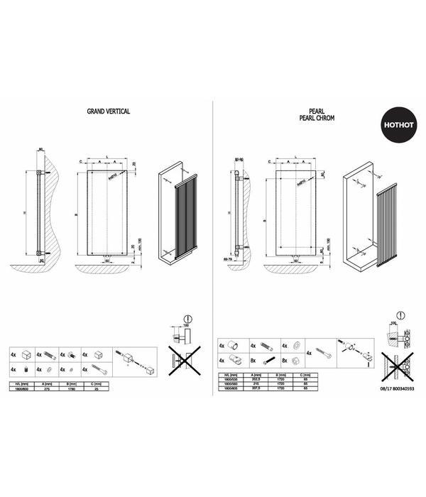 HOTHOT GRAND VERTICAL - Designer vertical central heating radiator