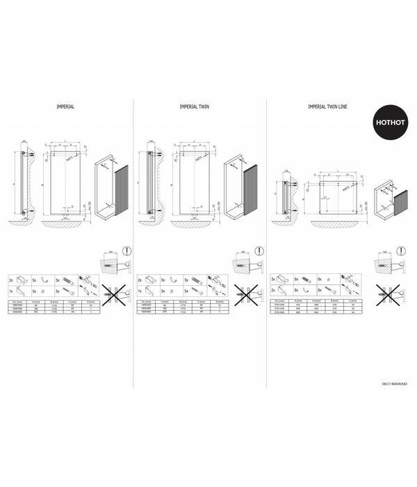 HOTHOT Imperial - Central heating designer vertical radiator