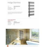 HOTHOT INDIGO STAINLESS - Inox - Brushed Stainless Steel Heated Bathroom towel rail