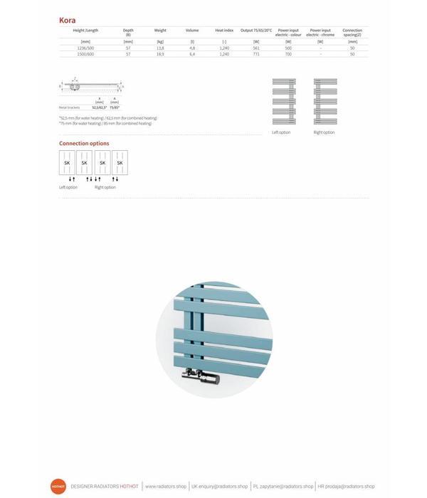 HOTHOT KORA - Sèche-serviettes à eau chaude dans de nombreuses couleurs