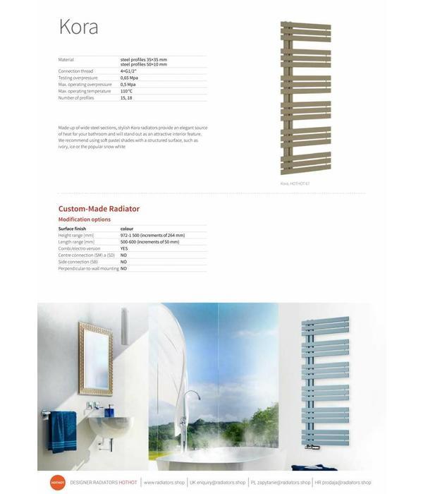 HOTHOT KORA - Sèche-serviettes électrique en acier