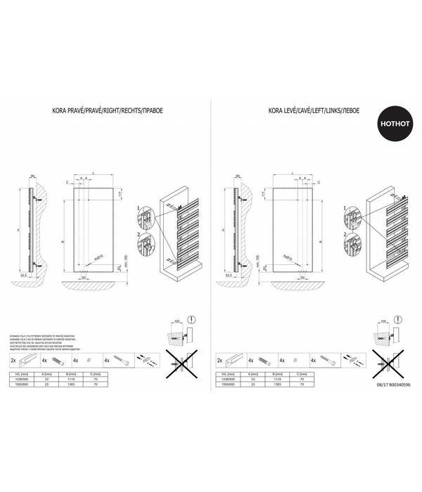 HOTHOT KORA - symmetrischer Handtuchhalter