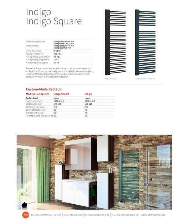 HOTHOT INDIGO - Heated Towel Rail