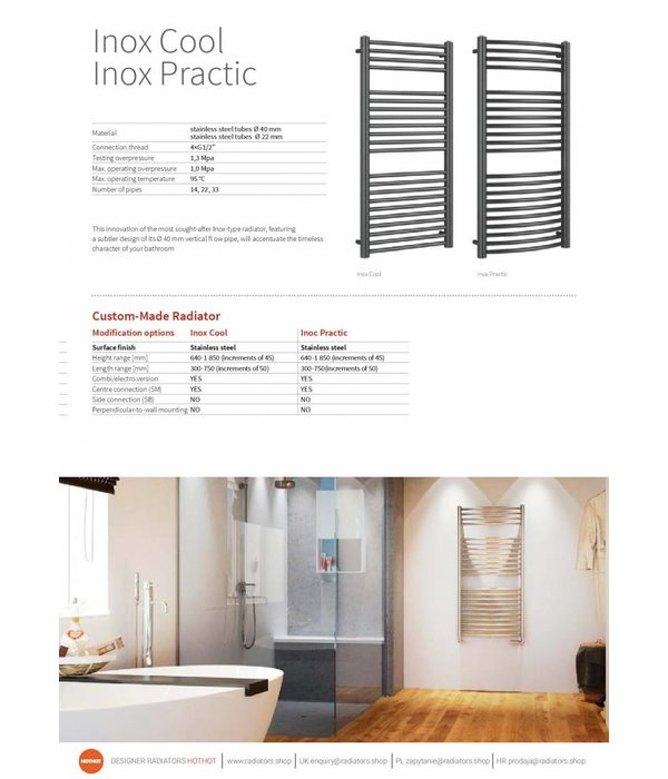 HOTHOT INOX COOL - Central Heating