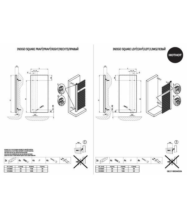 HOTHOT INDIGO SQUARE - Radiateur de salle de bains - Chauffage central