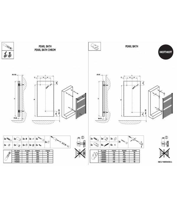 HOTHOT PEARL BATH  - Central Heating Radiator