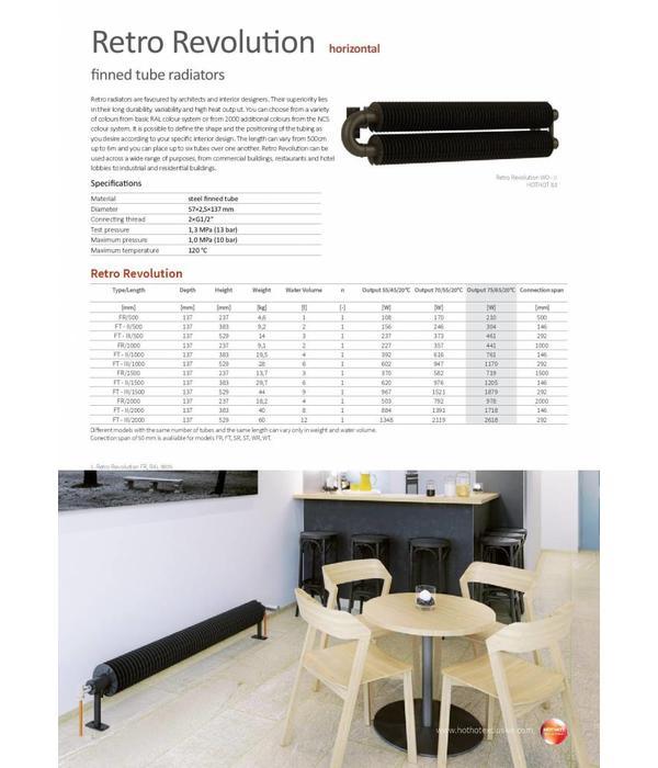 HOTHOT RETRO REVOLUTION FR - Radiateur-tube à ailettes - design rétro