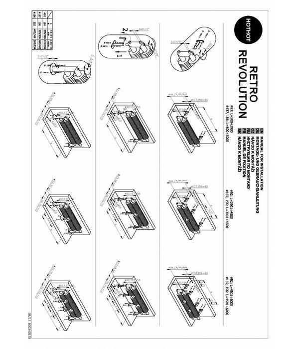 HOTHOT RETRO REVOLUTION FT II - Radiateur design - Style industriel - Pose au sol - Grande Performance