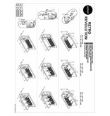 HOTHOT RETRO REVOLUTION ST II - selbstehender Vintage-Heizkörper, zweireihiger horizontaler Rippenrohrheizkörper
