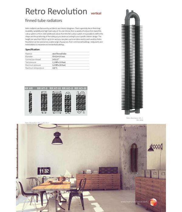 HOTHOT RETRO REVOLUTION HR - Radiateur vertical de style loft