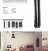 HOTHOT RETRO REVOLUTION HT II - zweireihiger vertikaler Rippenrohrheizkörper, Wandheizkörper aus Stahl