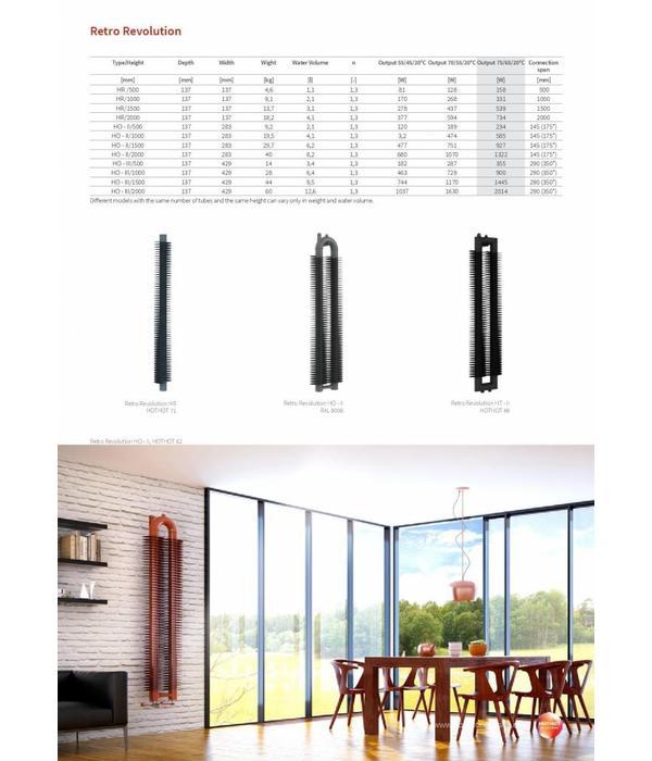 HOTHOT RETRO REVOLUTION HT III - Vertical designer high heat output radiators