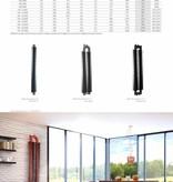 HOTHOT RETRO REVOLUTION HO III - Radiateur tube à ailettes blanc pour radiateur à eau chaude
