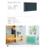 HOTHOT ROYAL TWIN LINE - Moderner Design-Heizkörper Horizontal