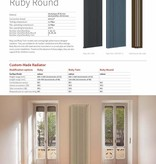 HOTHOT RUBY TWIN - Vertical Central Heating Radiator