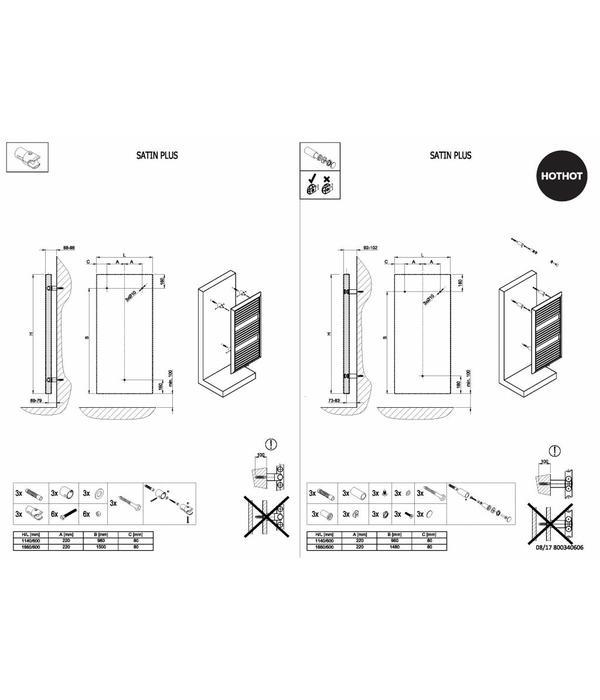 HOTHOT Badheizkörper aus Stahl - Handtuchhalter