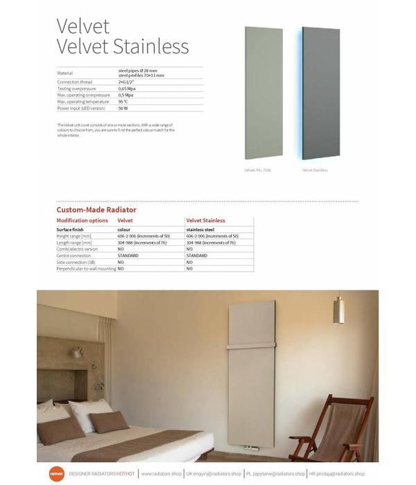 HOTHOT VELVET - dekorativer Heizkörper für Wohnzimmer - vertikaler Designheizkörper