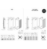 HOTHOT VELVET  SQUARES - Radiateur décoratif vertical en acier