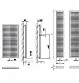 HOTHOT VELVET  SQUARES INOX - Radiateur décoratif à eau chaude