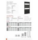 HOTHOT ZEN BATH TWIN - Warmwasser- Design- Badheizkörper