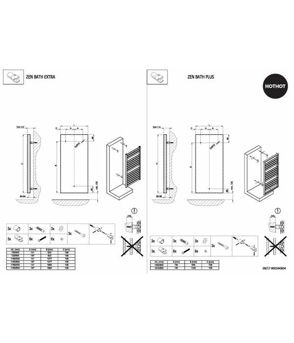 HOTHOT ZEN BATH PLUS - Central Heating Fuel - Elegant Towel Rail