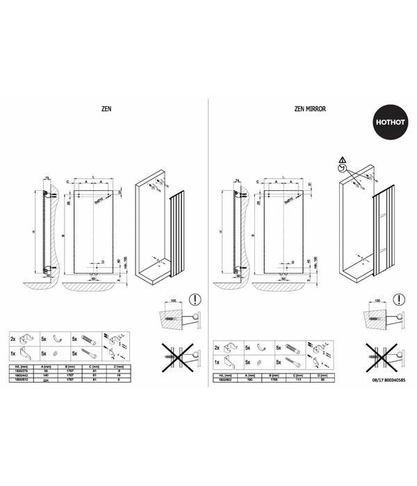 HOTHOT ZEN MIRROR - Radiateur design avec miroir
