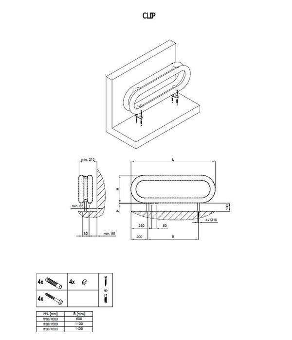 HOTHOT CLIP | Radiateur tubulaire à poser au sol