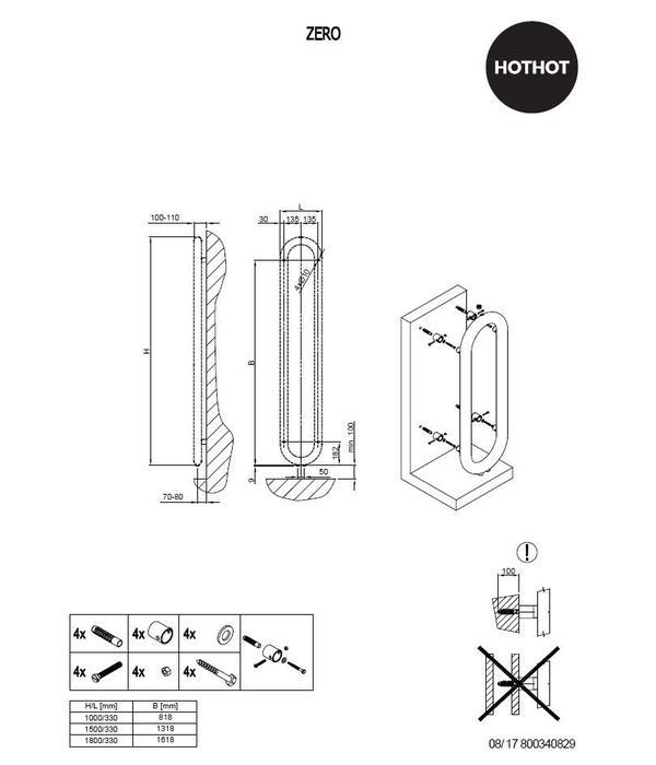 HOTHOT ZERO |  Wall mounted Tubular radiator