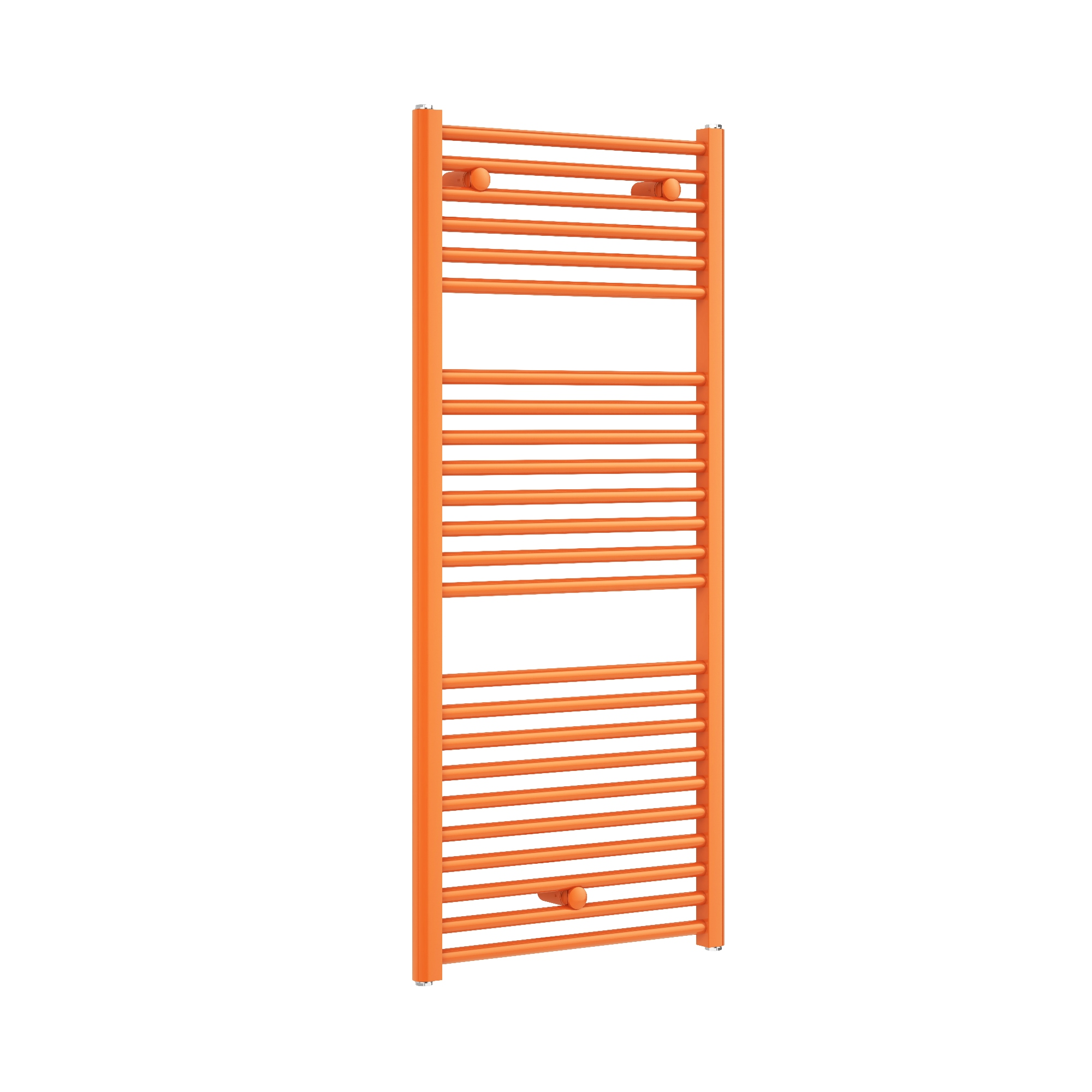 Bright orange designer radiator