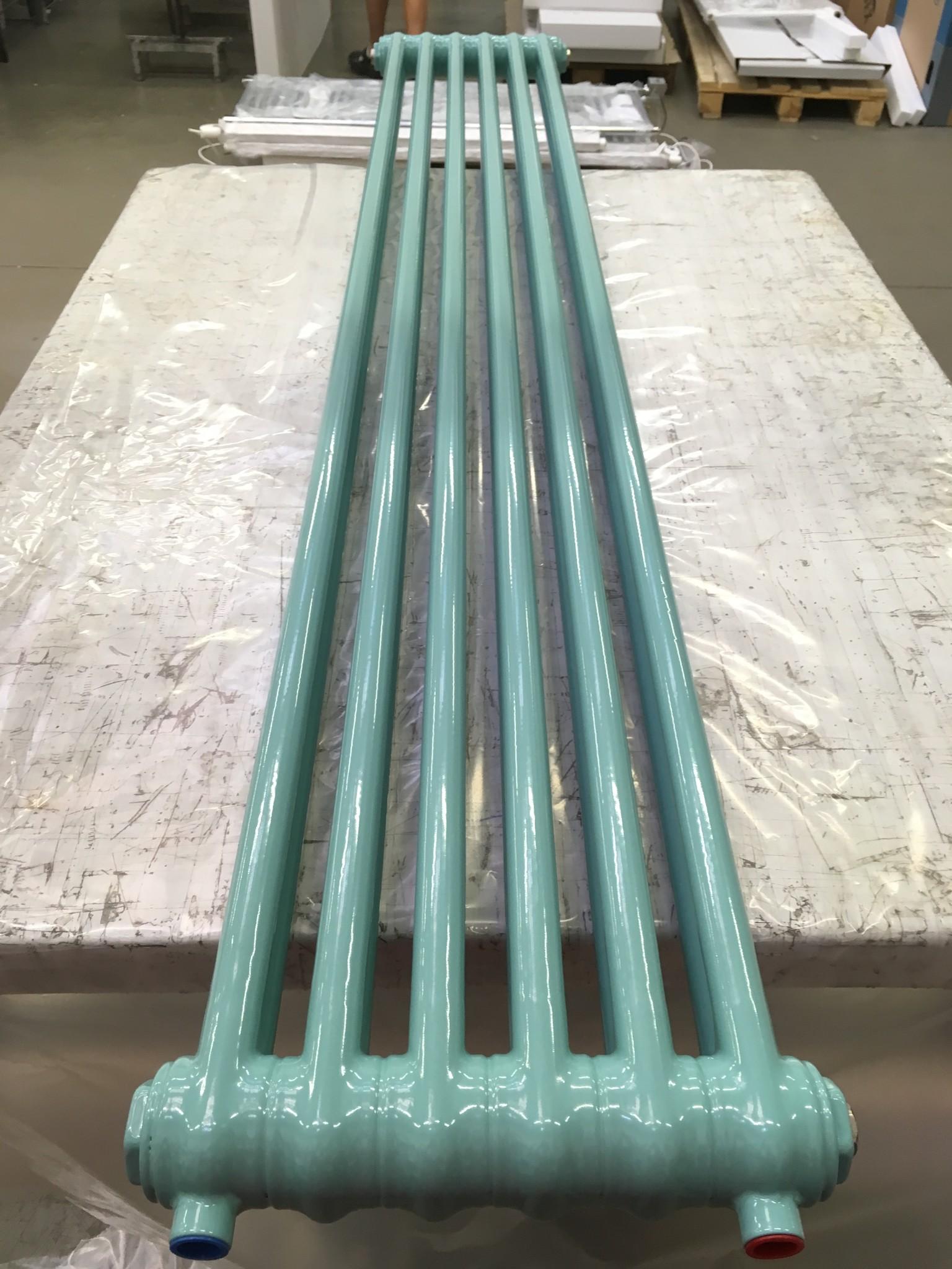 Radiateur vertical en couleur Turquoise