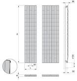 HOTHOT Waves - Radiateur design vertical