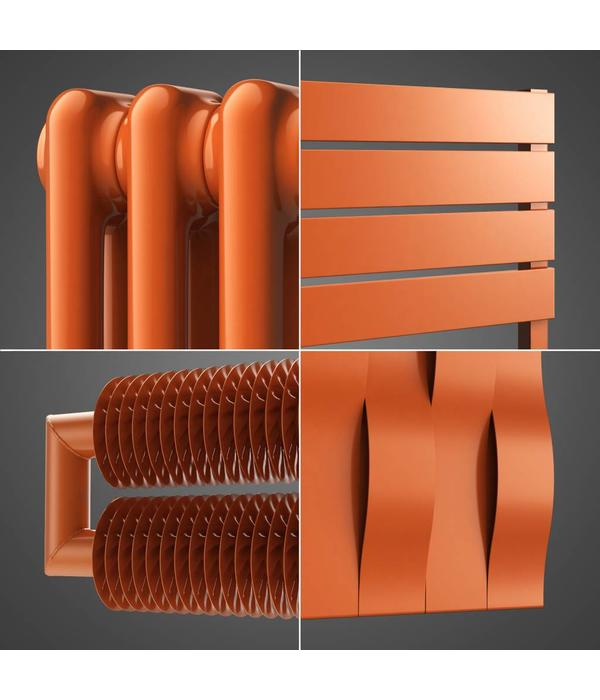 HOTHOT Radiator in right red orange Colour RAL 2008