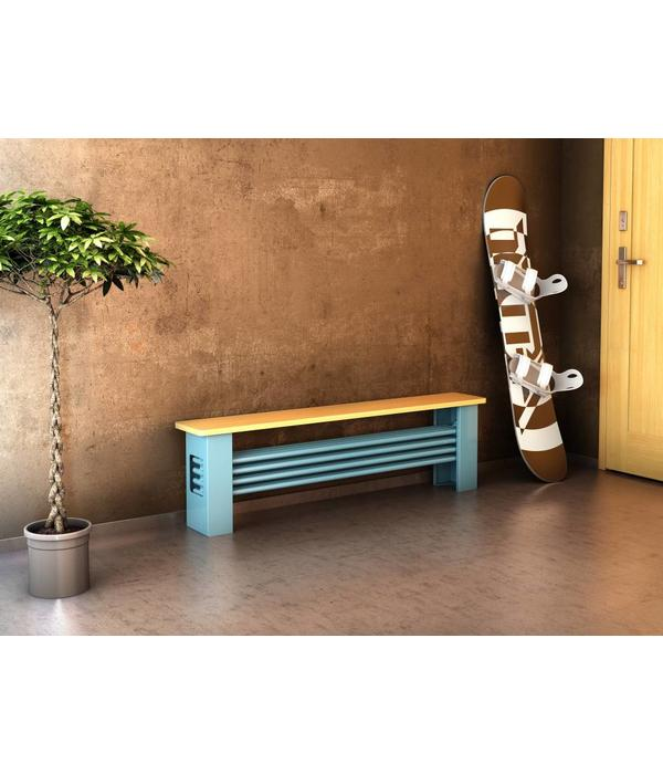 HOTHOT AQUA DESK - column bench radiator - Thermostatic valve included
