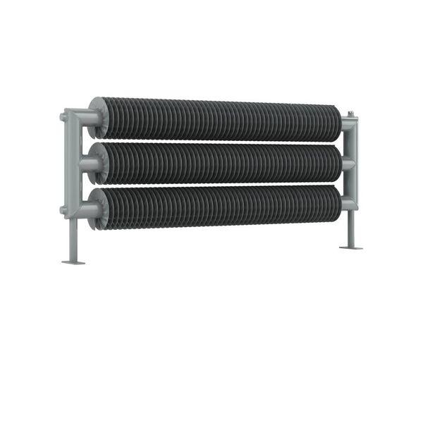 RETRO REVOLUTION FT III - dreireihiger horizontaler Spiral-Heizkörper