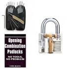 Lockpick set 17-delig van Southord + Doorzichtig Oefenslot + Oefenboek