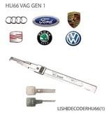 Lishi HU66-1 Audi VW groep auto open tool incl sleutels