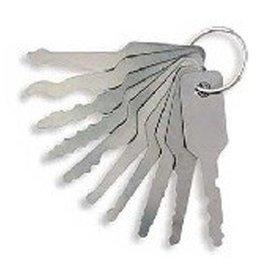 11-delig lockpick auto jiggler set