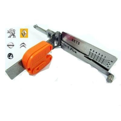Lishi NE72 Renault groep auto open tool incl. sleutels