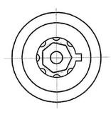 Heptagon 7 pin tubolare pick - Hexagon