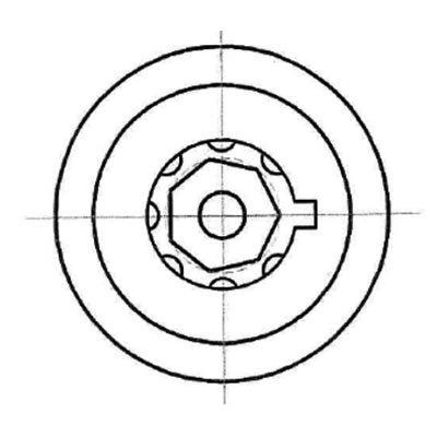 Heptagon 7 broches tubulaires pick - Hexagon
