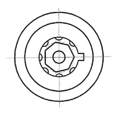 Heptágono 7 pasador tubular pick - Hexágono