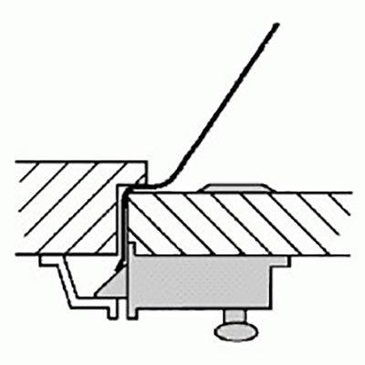 Türfallenkarte mit Griff (0.50 mm)