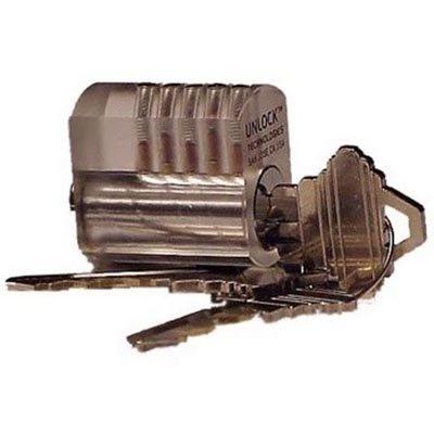 Serratura di pratica trasparente con pistoncino a bobina