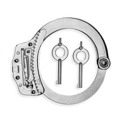 Manette per fare pratica nel lockpicking con bracciale trasparente aperto