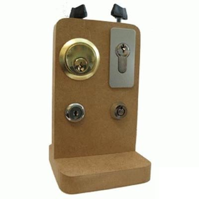 Variablel oefenbord voor lockpicking