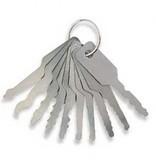 Set di 4 pezzi per lucchetti più set di 7 Jiggler per serrature delle auto