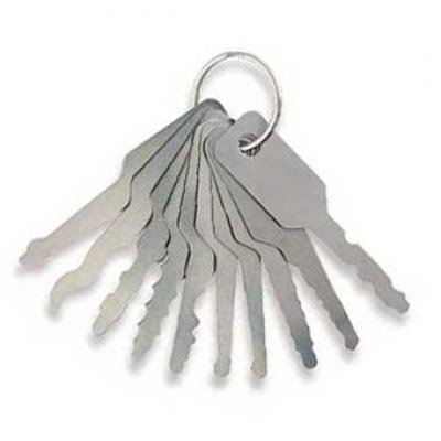 4-stuks padlocks set plus 7-stuks Jiggler autoset