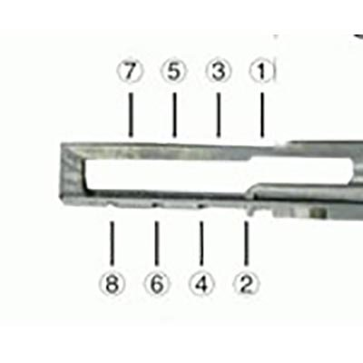 Lishi Herramienta de apertura de cerraduras con llave HU66-1 para Audi – VW